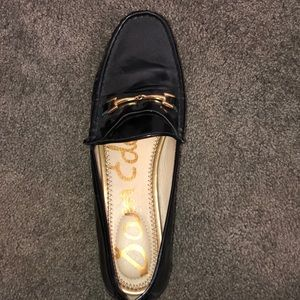 Black Loafers with Gold Link